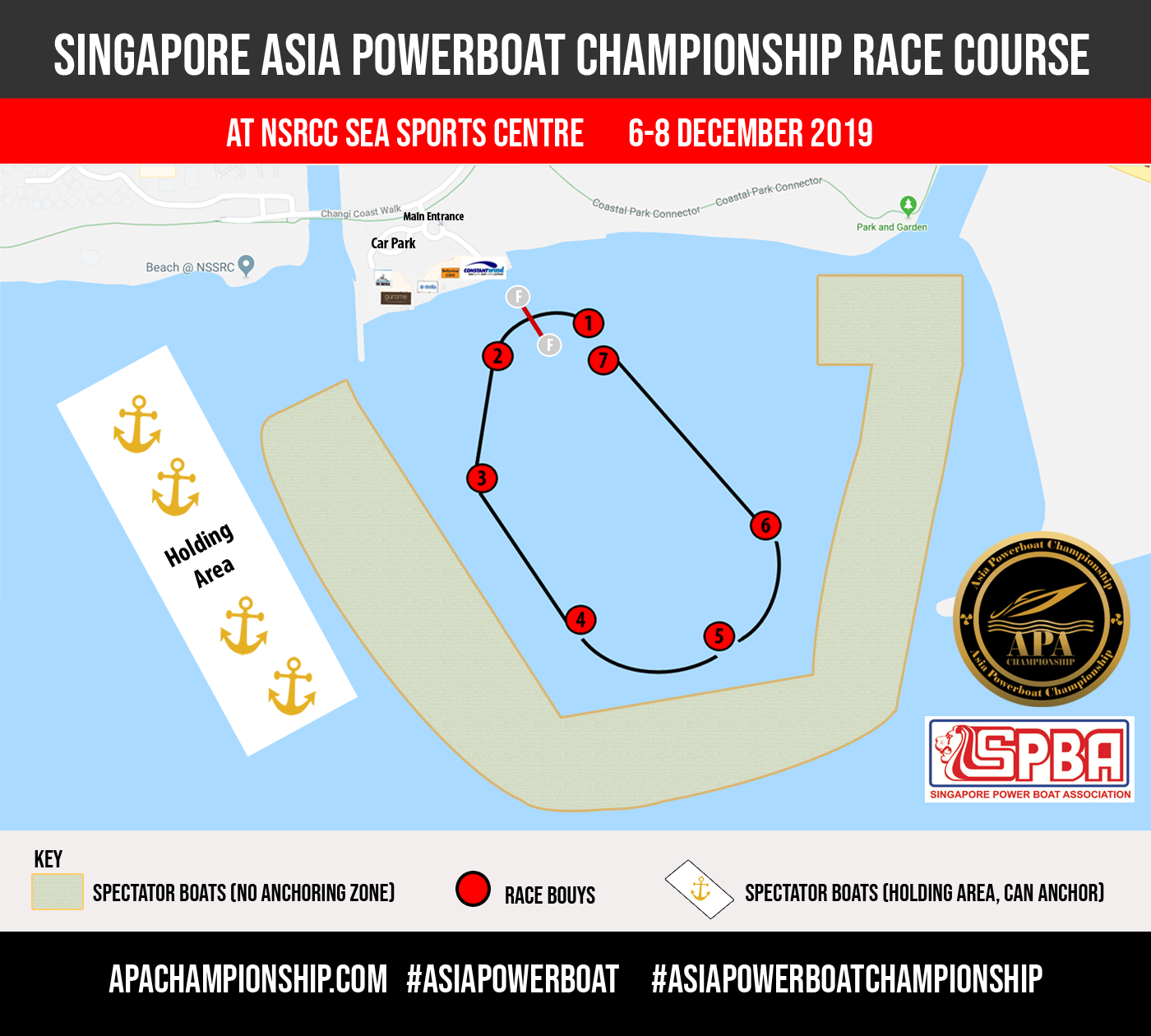 Singapore Asia Powerboat Championship Race Course